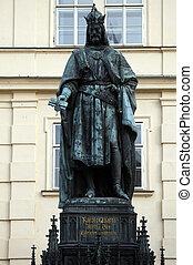 Statue of Charles IV in Prague, Czech Republic