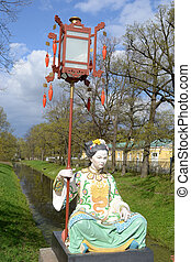 Statue of Chinese woman.