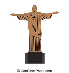Christ the redeemer - Statue of Christ the redeemer in Rio...