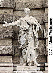 Statue of Cicero in front of the Palace of Justice in Rome