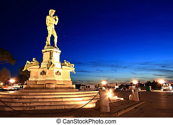 Statue of David Florence - Statue of David, located in...