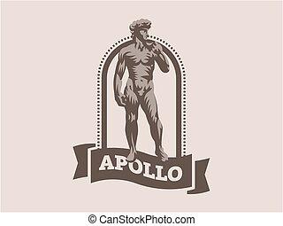 Statue of David or Apollo.