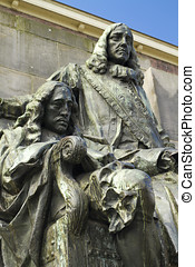 Statue of Dutch politicians and brothers Johan and Cornelis...