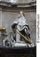 Statue of Emperor Leopold praying, Plague Monument in Vienna...