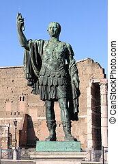 Statue of emperor Nerva, Rome (Italy)