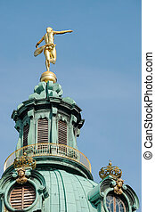 Statue of Fotuna on top of the Charlottenburg Palace in Berlin