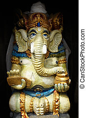 Statue of Ganesa god - UBUD, INDONESIA - 15 of February...