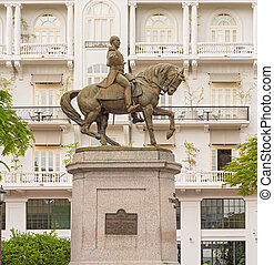 Statue of General Tomas Herrera in Panama City - Statue of...