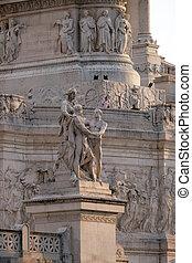 Statue of harmony, Altare della Patria, Venice Square, Rome...