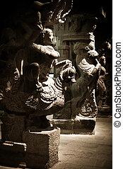 Statue of Indian god Ganesha at Hindu Temple. South India, ...