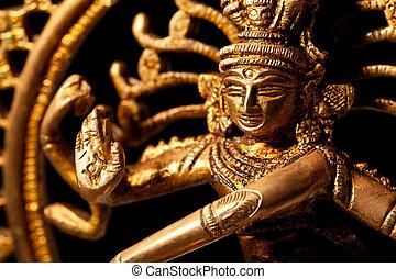 Statue of indian hindu god Shiva Nataraja - Lord of Dance close up