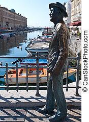 Statue of James Joyce in Trieste - Statue of James Joyce...