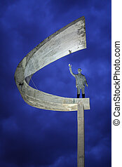 Statue of JK, in the city of Brasilia