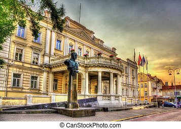 Statue of Jonas Zemaitis in front of Ministry of National...
