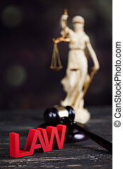 Statue of justice, burden of proof, law theme - Statue of ...
