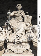 Justice Goddess - Statue of Justice Goddess in the...