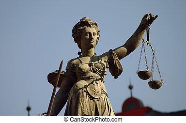 Statue of Justizia at R?mer in Frankfurt