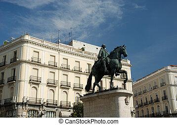 Statue of King Carlos III in Madrid, Spain