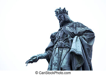 Statue of King Charles in Prague
