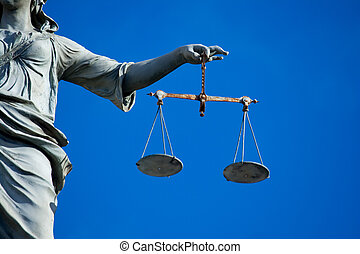 Lady Justice - Statue of Lady Justice at Dublin Castle in...