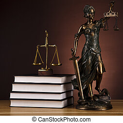 Statue of lady justice - Law and justice concept in studio