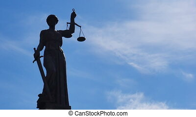 Statue of Lady Justice time lapse