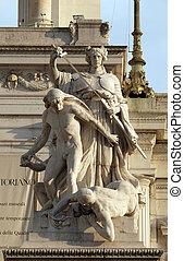 Statue of law, Altare della Patria, Venice Square, Rome, Italy