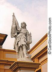 Statue of Leopold II in Melk Abbey