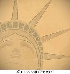 Statue of Liberty Background - Statue of Liberty retro...