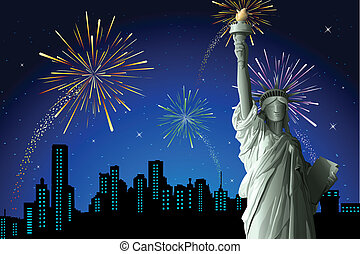 Statue of Liberty - illustration of statue of liberty on...