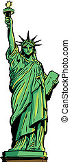 Statue of Liberty full figure. Vector format fully editable