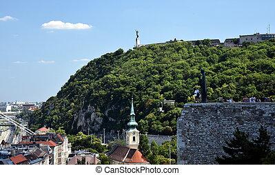Statue of Liberty, Gellert hill, Budapest, Hungary