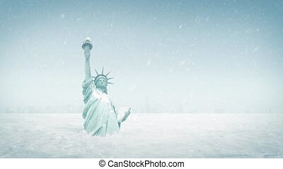 Statue Of Liberty In Ice Age - The Statue of Liberty buried...