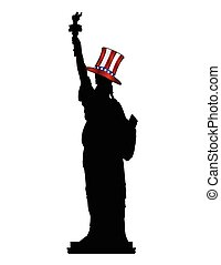 Statue Of Liberty In Uncle Sam Hat