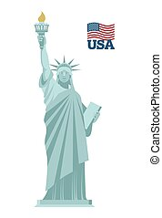 Statue of Liberty in USA. National symbol of America. State...