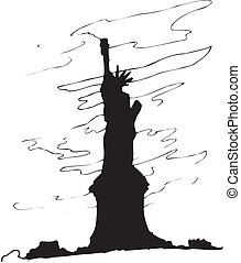 Statue of Liberty in Vector