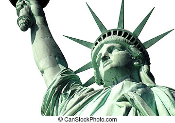 Statue of Liberty Isoalted on White