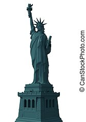 Statue of Liberty Isolated 3D