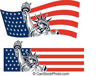 Statue of Liberty, New York City, USA symbol