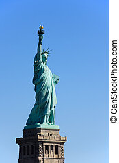 Statue of Liberty on pedestal