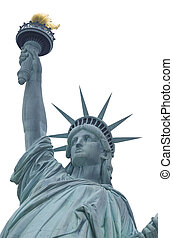Statue Of Liberty Over White - Statue of Liberty, New York...