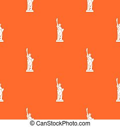 Statue of liberty pattern seamless