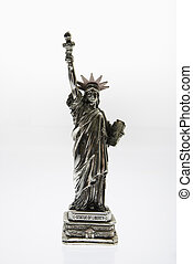 Statue of Liberty. - Statue of Liberty reproduction on white...