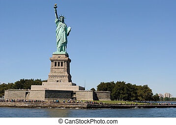 Statue of LIberty - The Statue of Liberty on Liberty Island.
