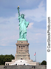 Statue of Liberty sculpture, on Liberty Island - The Statue ...