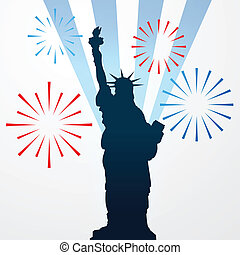 statue of liberty shullouette - vector statue of liberty...