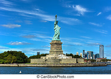 Statue of Liberty - The Statue of Liberty from Liberty...