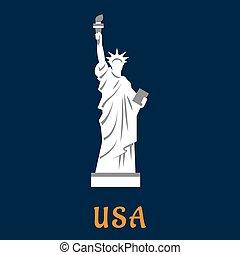 Statue of liberty travel landmark icon