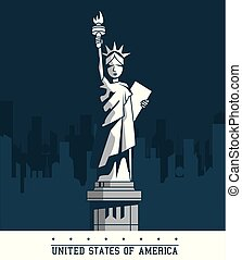 statue of liberty united states USA new york city emblem