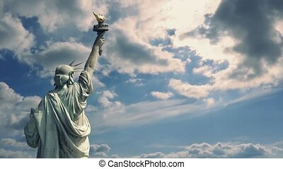 Statue Of Liberty With Dramatic Sky - The Statue of Liberty...